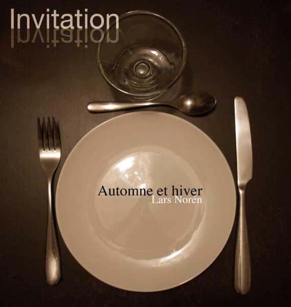 """carton d'invitation recto pièce de théâtre """"Automne et hiver"""" de Lars Norèn"""