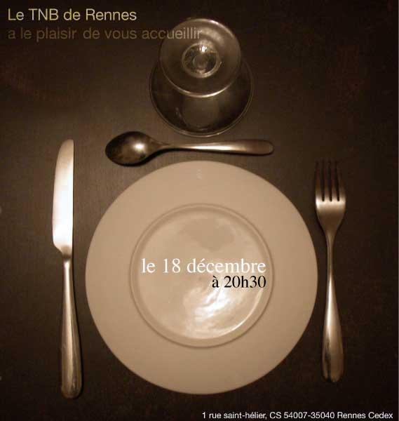 """carton d'invitation verso pièce de théâtre """"Automne et hiver"""" de Lars Norèn"""
