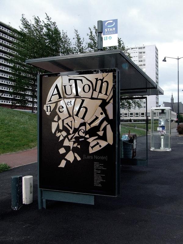 """in situ affiche """"Automne et hiver"""" de Lars Norèn"""
