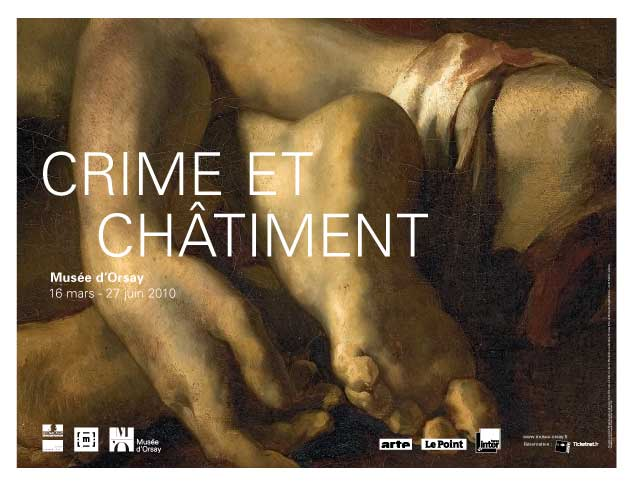 """affiche de l'exposition """"Crime et châtiment"""" au musée d'Orsay"""