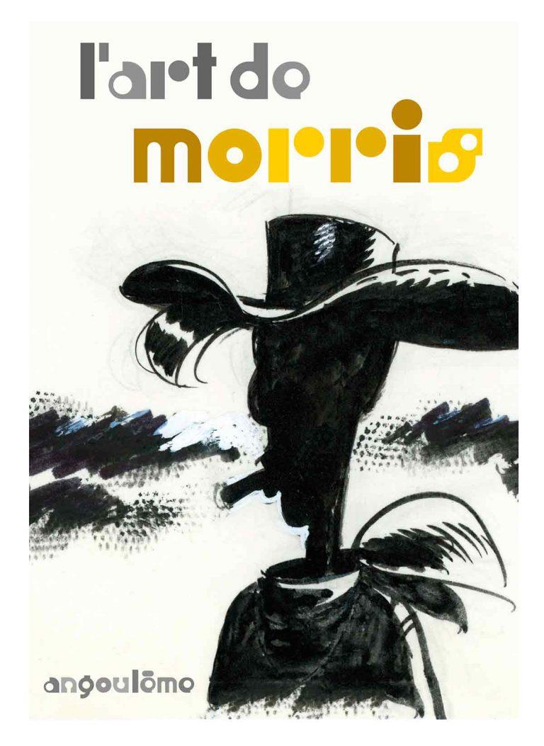 """affiche de l'exposition """"L'art de Morris"""" de la Cité internationale de la bande dessinée et de l'image à Angoulême"""