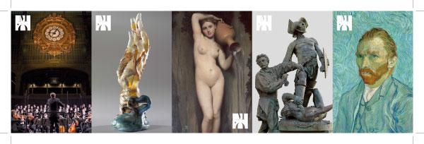 billeterie 2010 verso du musée d'Orsay à Paris