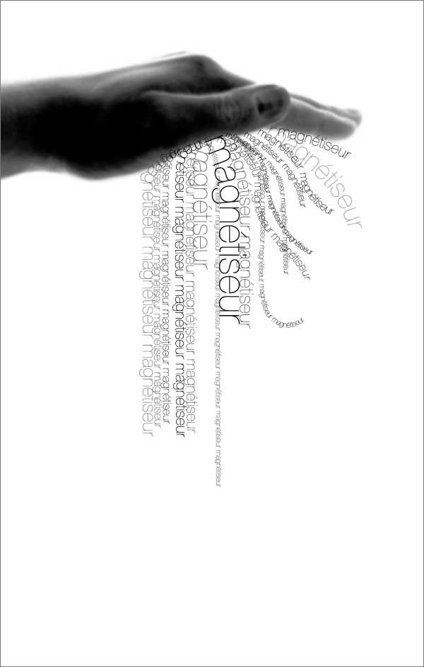 carte de visite recto pour le métier de magnétiseur