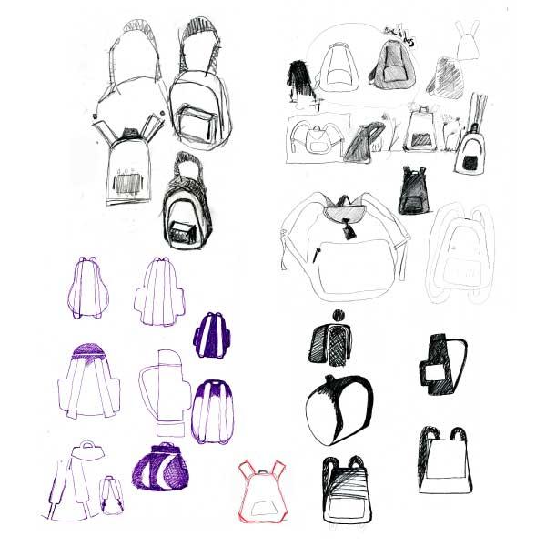 dessins de recherche pictogrammes sac à dos musée d'Orsay