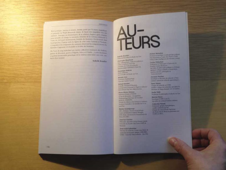 """photographie page auteurs de la revue philosophique """"Sens dessous"""""""