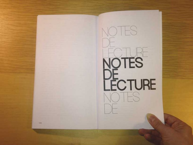 """photographie page notes de lecture de la revue philosophique """"Sens dessous"""""""