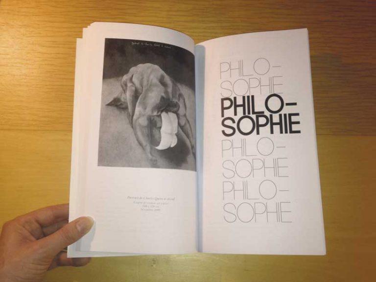 """photographie double page philosophie de la revue philosophique """"Sens dessous"""""""