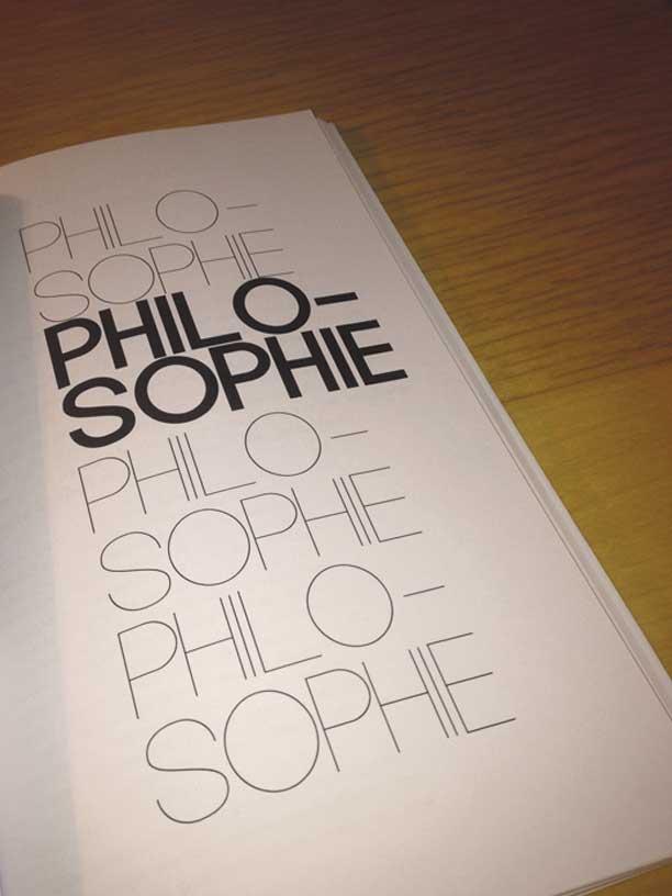 """photographie page philosophie de la revue philosophique """"Sens dessous"""""""