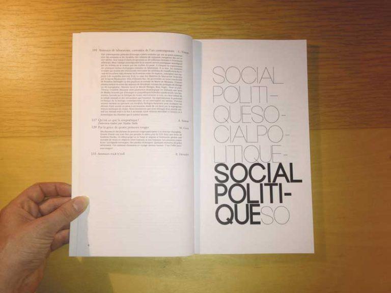 """photographie double page social politiques de la revue philosophique """"Sens dessous"""""""