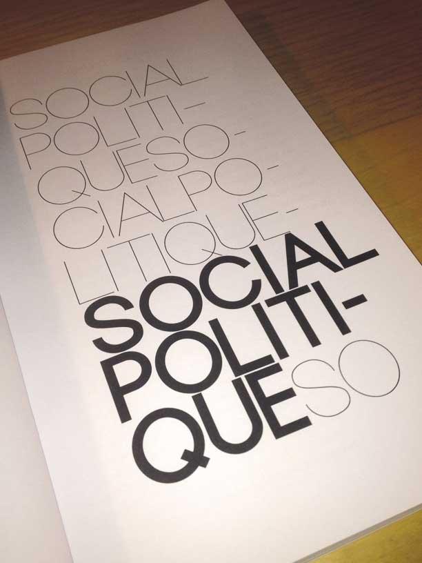 """photographie page social politiques de la revue philosophique """"Sens dessous"""""""