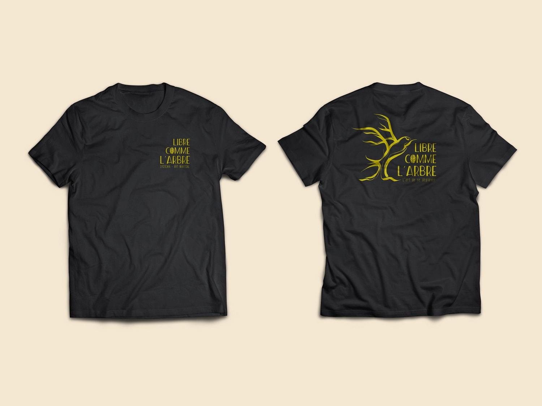 libre comme l'arbre t-shirt