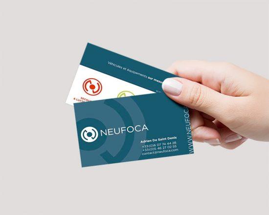 mockup carte de visite Neufoca